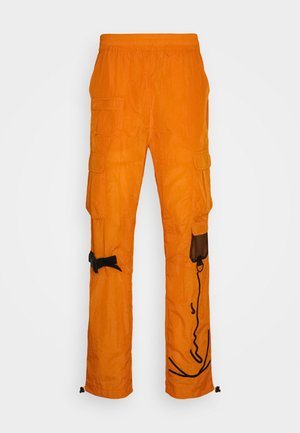 SIGNATURE CRINCLE PANTS UNISEX - Cargo trousers - orange