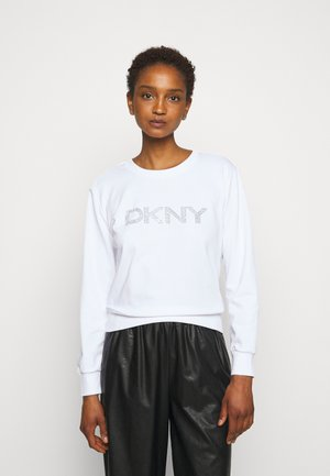 DIAMANTE CROPPED LOGO - Sweater - ivory