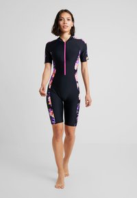 Zoggs - BLOOMSBURY KNEESUIT - Swimsuit - black/multi