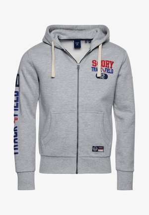 SUPERDRY TRACK & FIELD GRAPHIC - Zip-up hoodie - pumice stone marl