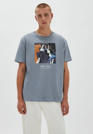 JUAN  - T-shirt con stampa - light grey