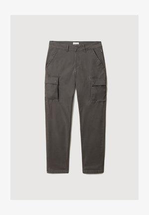 MOTO - Cargo trousers - dark grey solid