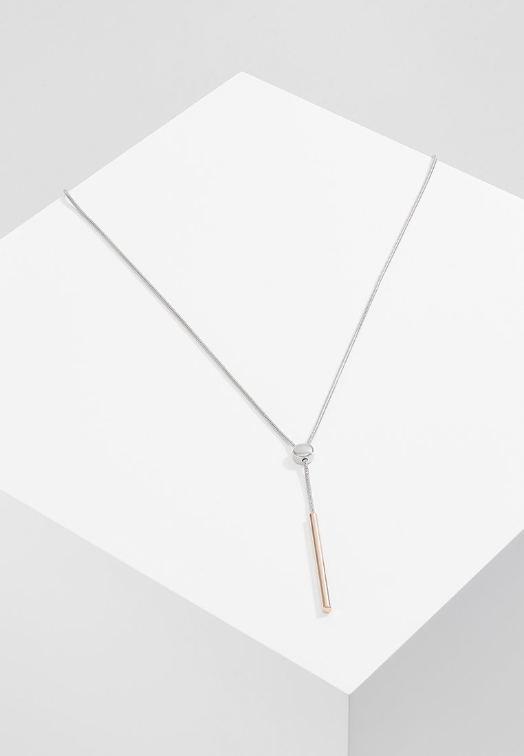 Skagen - TUBE - Necklace - silver-coloured/roségold-coloured