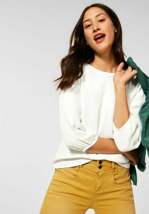 MIT PUFF - Long sleeved top - weiß