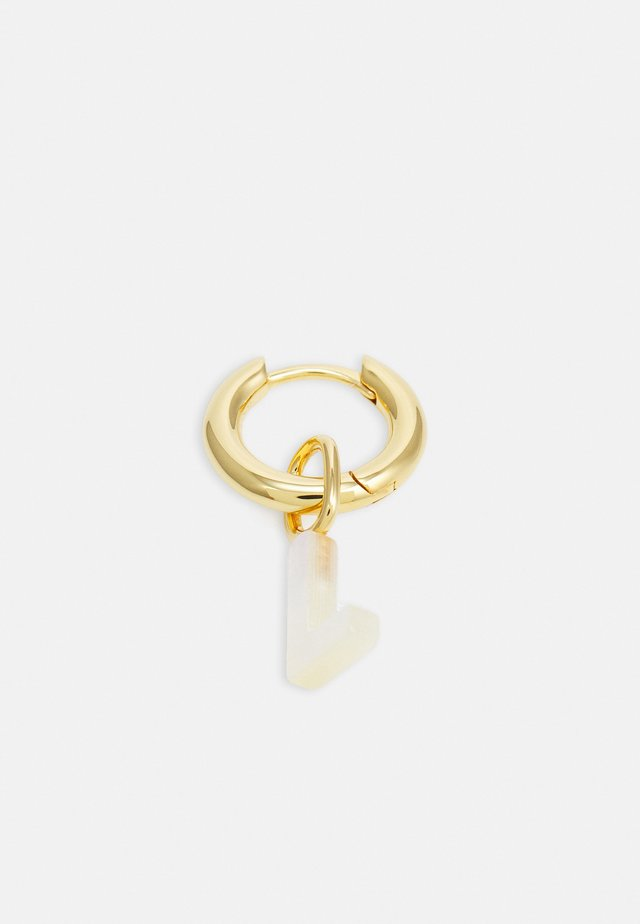 LUCID LETTER HUGGIE L - Oorbellen - gold-coloured