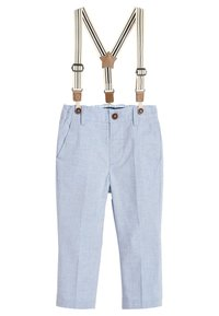 Next - BLUE FORMAL TROUSERS WITH BRACES (3MTHS-7YRS) - Pantaloni - blue - 0