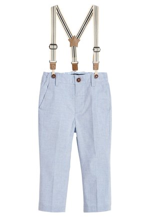 BLUE FORMAL TROUSERS WITH BRACES (3MTHS-7YRS) - Pantalones - blue