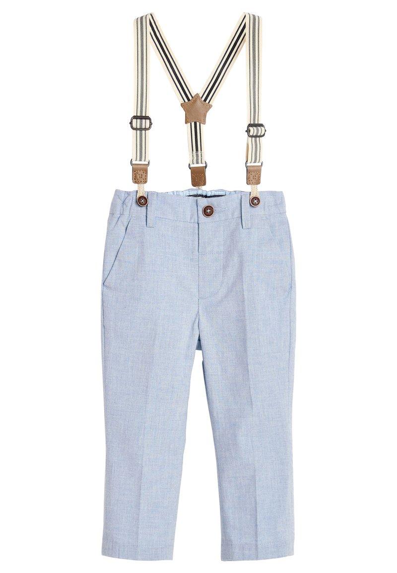 Next - BLUE FORMAL TROUSERS WITH BRACES (3MTHS-7YRS) - Pantaloni - blue