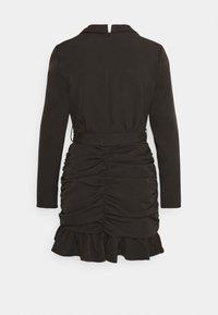 Missguided Petite - RUCHED FRILL BLAZER DRESS - Cocktailkjole - black - 1