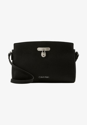 DRESSED BUSINESS CROSSBODY - Skuldertasker - black