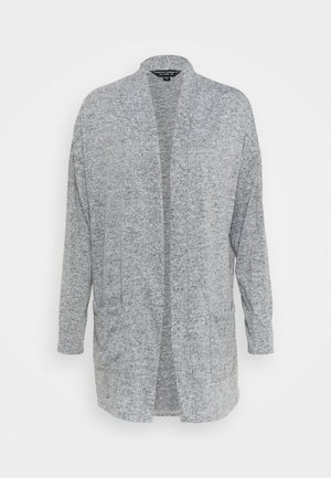 BRUSHED CARDI - Cardigan - grey