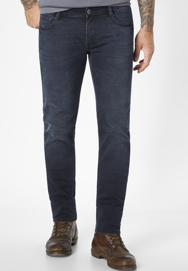 DEAN - Slim fit jeans - blue black moustache used