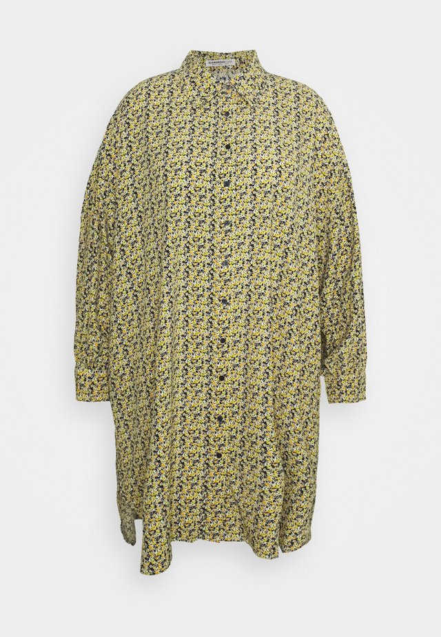 Shirt dress - multi yellow ditsy