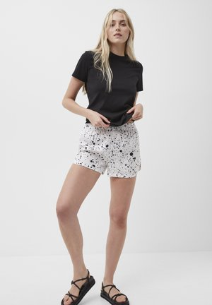 DROPLET DRAPE - Shorts - summer white/black