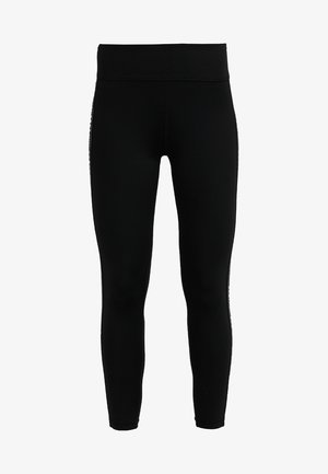 HIGH WAIST LOGO TAPING - Tights - black