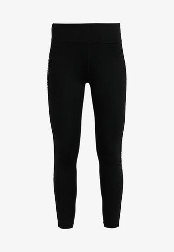 HIGH WAIST LOGO TAPING - Leggings - black