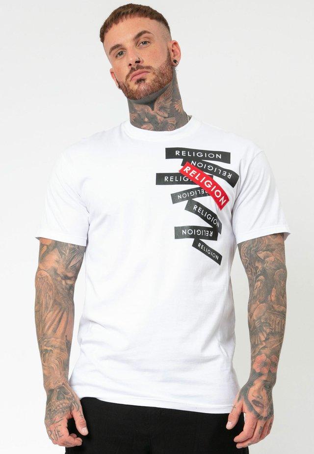 LABEL TEE - T-shirt imprimé - white