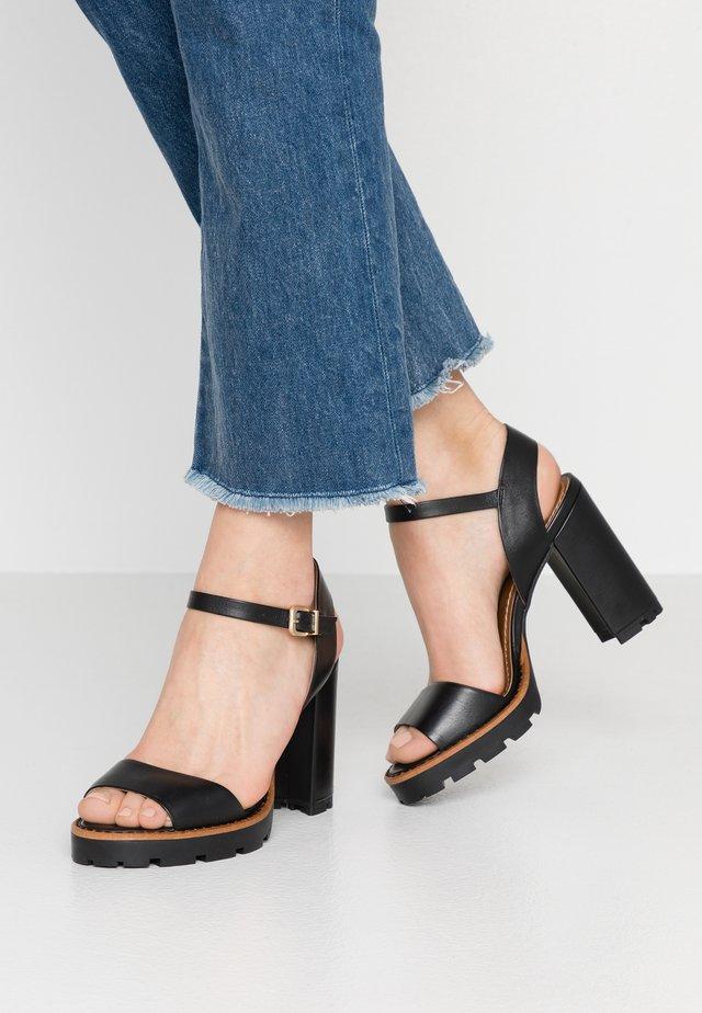 DEBORA - High heeled sandals - black