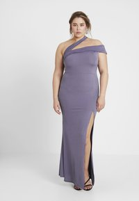 Missguided Plus - ONE SHOULDER MAXI DRESS - Occasion wear - lilac - 0
