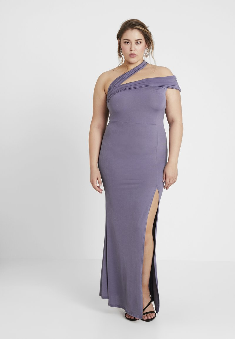 Missguided Plus - ONE SHOULDER MAXI DRESS - Occasion wear - lilac