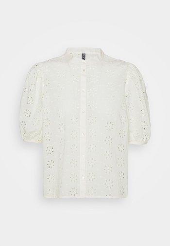PCTILLIE - Button-down blouse - buttercream