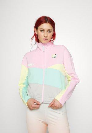 TRACK JACKET - Zip-up sweatshirt - gray/violet