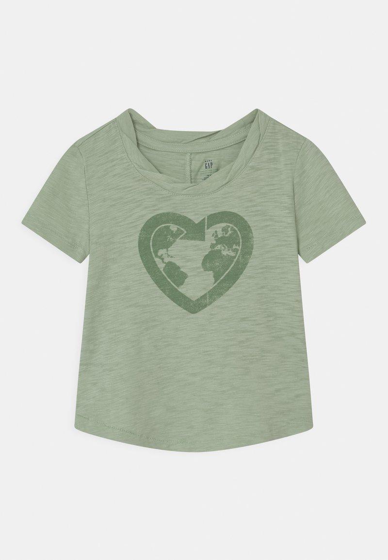 GAP - TODDLER GIRL EASY  - Print T-shirt - smoke green