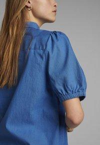 Nümph - Button-down blouse - medium blue denim - 3