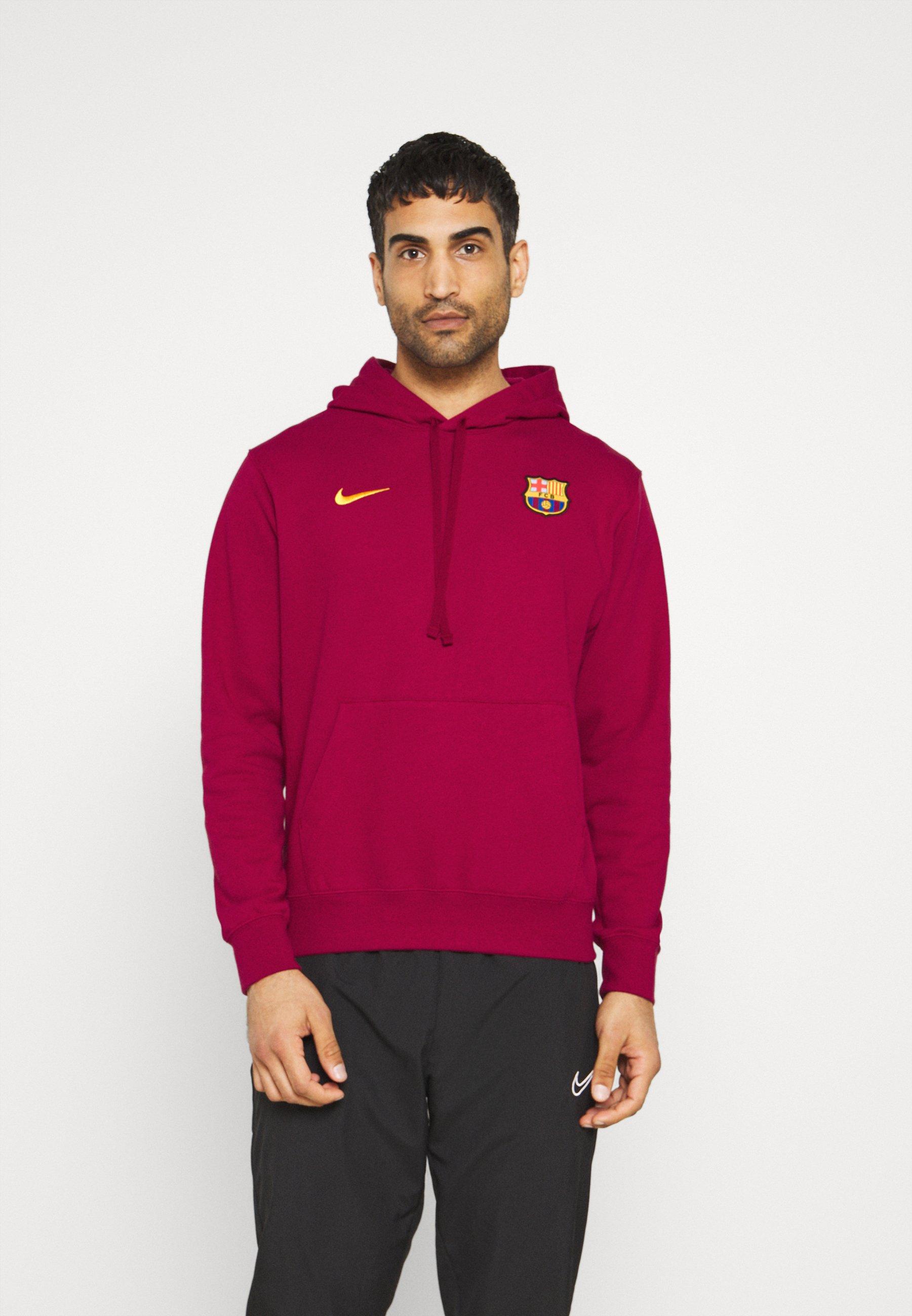 Herren FC BARCELONA HOODIE - Sweatshirt - noble red/varsity