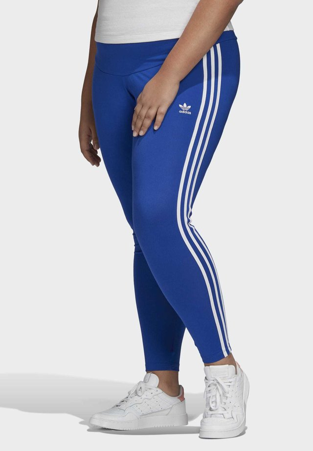 3-STRIPES LEGGINGS (PLUS SIZE) - Leggings - blue