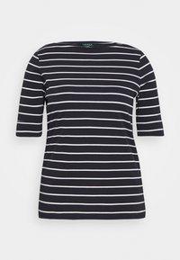 Lauren Ralph Lauren Woman - JUDY ELBOW SLEEVE - Print T-shirt - navy/white - 4