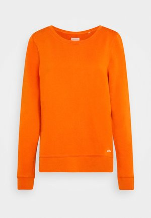 LONG SLEEVE ROUND NECK PRINT AT BACK - Sweatshirt - pumpkin orange