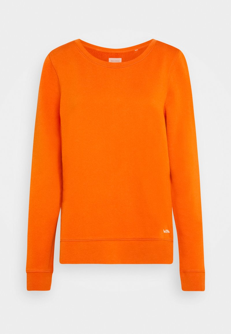 Marc O'Polo - LONG SLEEVE ROUND NECK PRINT AT BACK - Sweatshirt - pumpkin orange