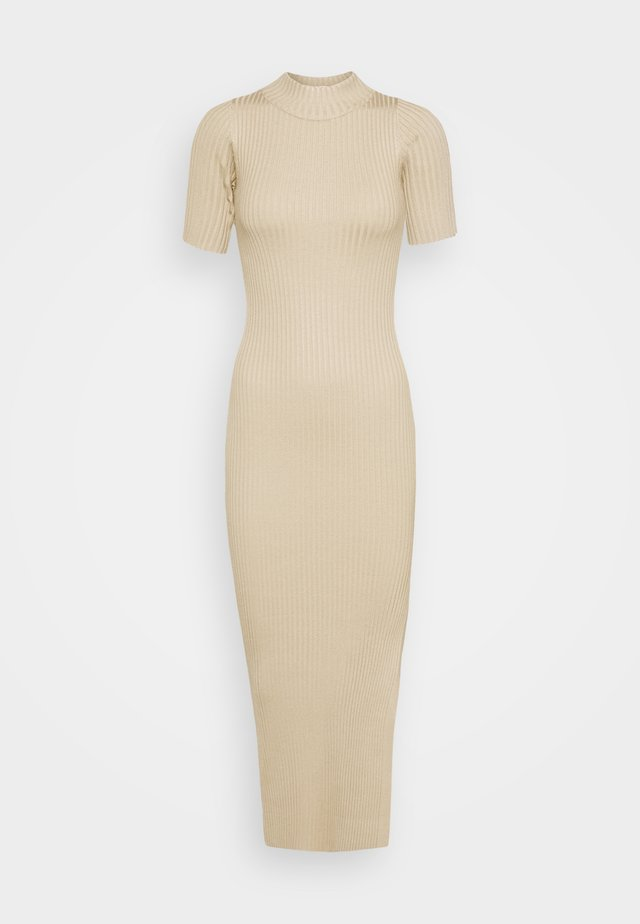 EUPHORIA DRESS - Gebreide jurk - stone