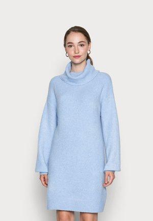 TURTLENECK JUMPER-DRESS  - Jumper dress - mottled light blue
