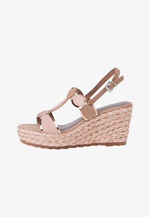 High heeled sandals - nude comb