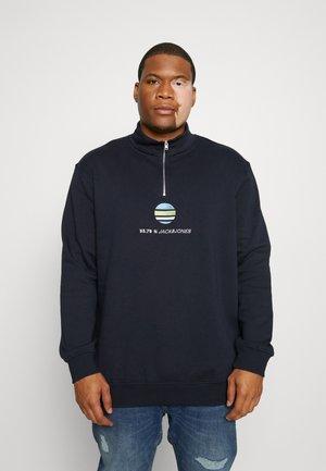 JORCLAYTON HALF ZIP  - Sweatshirt - navy blazer