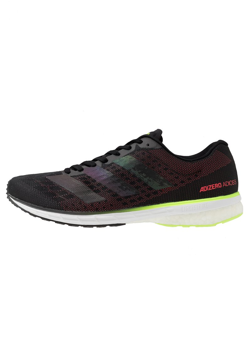 adidas Performance - ADIZERO ADIOS  - Competition running shoes - core black/signal green