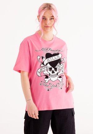 SKULL LOVE - T-shirt med print - blush pink