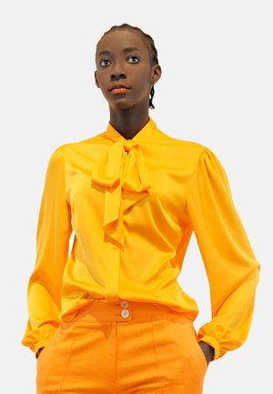 MARI - Button-down blouse - orange