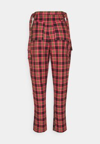 The Ragged Priest - CHECK PANTS WITH EYELET STRAPS AND BUCKLES - Trousers - red/multi - 6