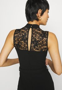 Anna Field - OCCASION - SLEEVELESS BELTED LACE NECKLINE JUMPSUIT - Jumpsuit - black - 6