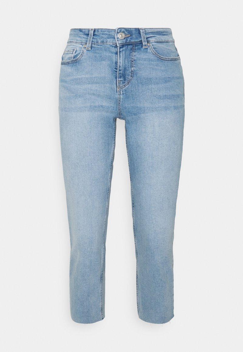 Pieces Petite - PCLUNA STRAIGHT - Straight leg jeans - medium blue denim