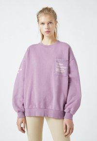 PULL&BEAR - Mikina - dark purple - 0