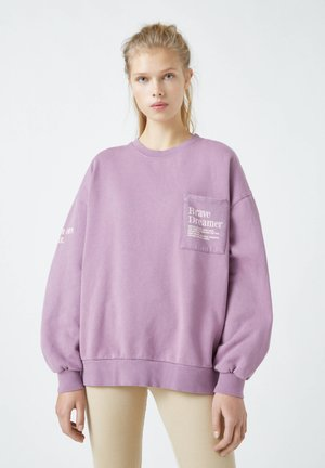 Sweatshirt - dark purple
