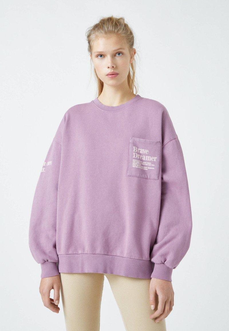PULL&BEAR - Mikina - dark purple