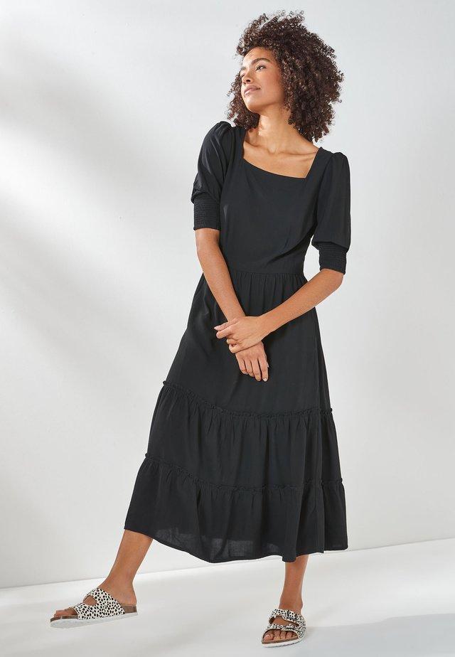 TIERED - Denní šaty - black