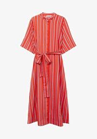 Mango - Vestido camisero - rot - 6