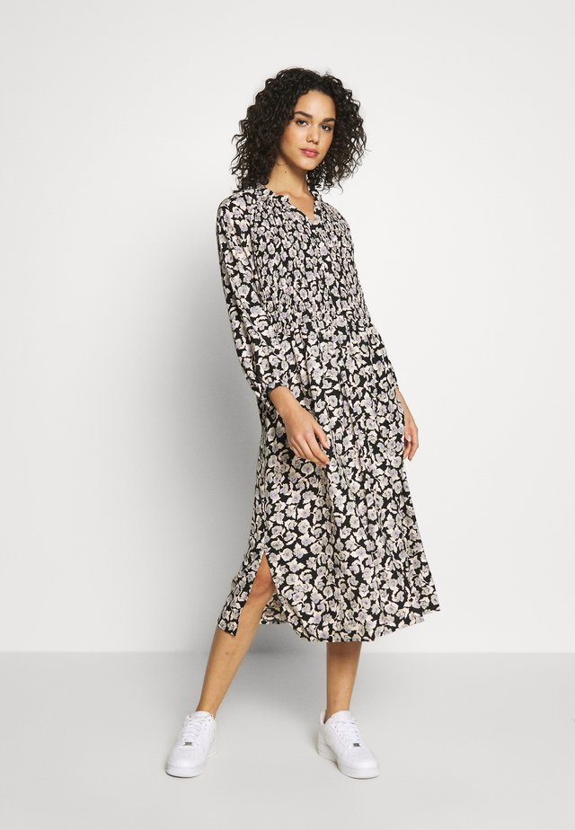 ONLROCKY 7/8 SMOCK MIDI DRESS - Skjortekjole - black/rocky rose