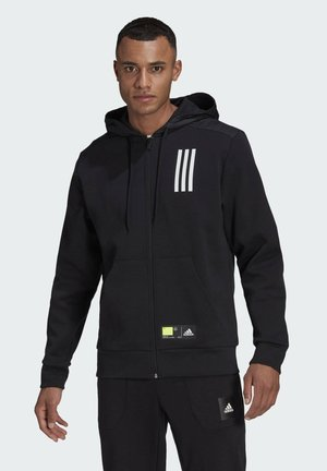 ADIDAS SPORTSWEAR OVERLAY FULL-ZIP TRACK TOP - veste en sweat zippée - black